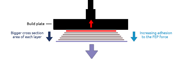 Ameralabs increased adhesion to build plate