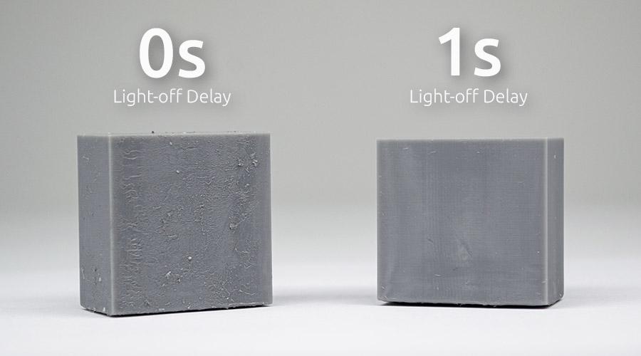 Impact of wait time settings in resin 3D printing to avoid blooming